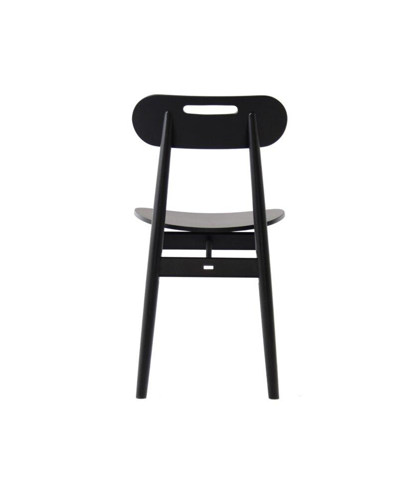 minimalistyczne krzeslo retro vintahe czarne