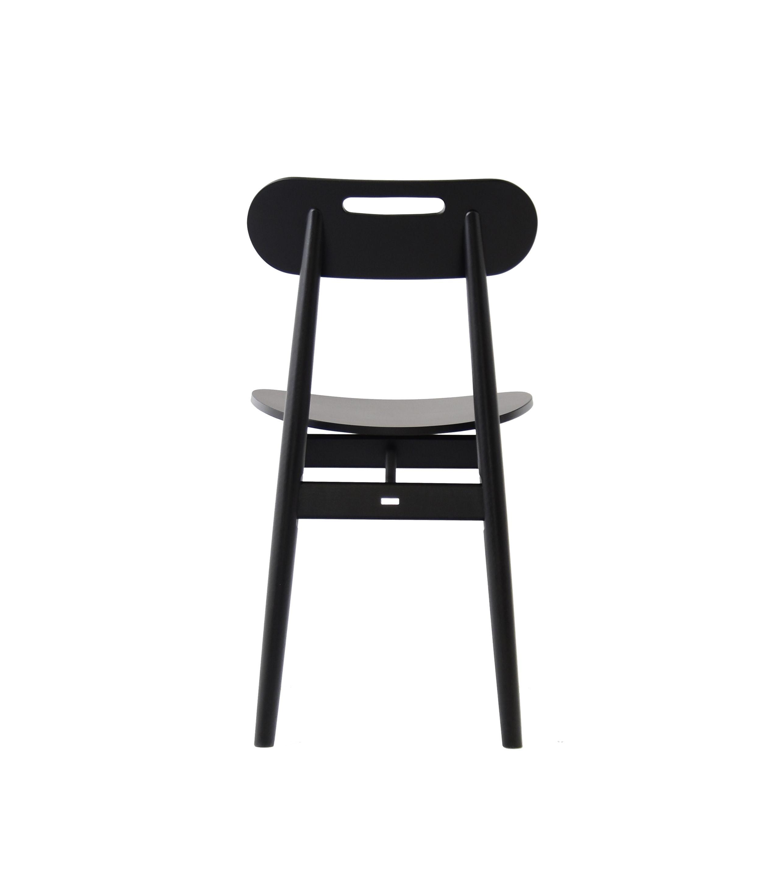 krzesło minimalistyczne retro czarne