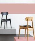 drewniane krzeslo debowe retro