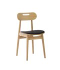 skandynawskie debowe krzeslo