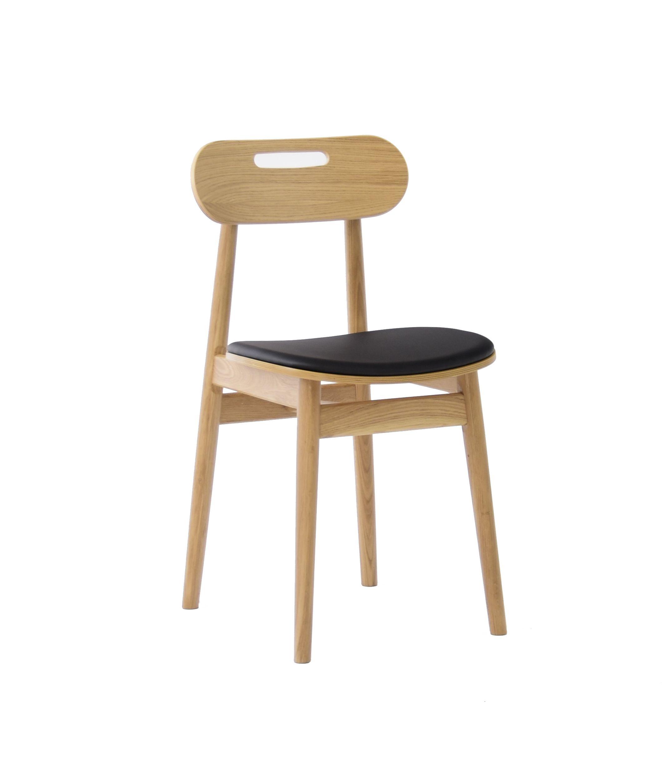 skandynawskie krzesło tapicerowane dębowe