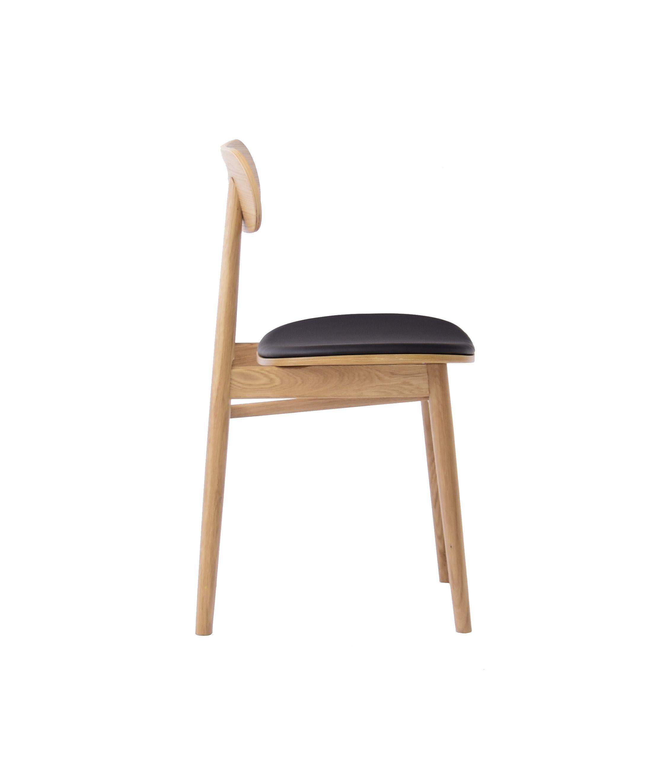 nowoczesne krzesło dębowe tapicerowane