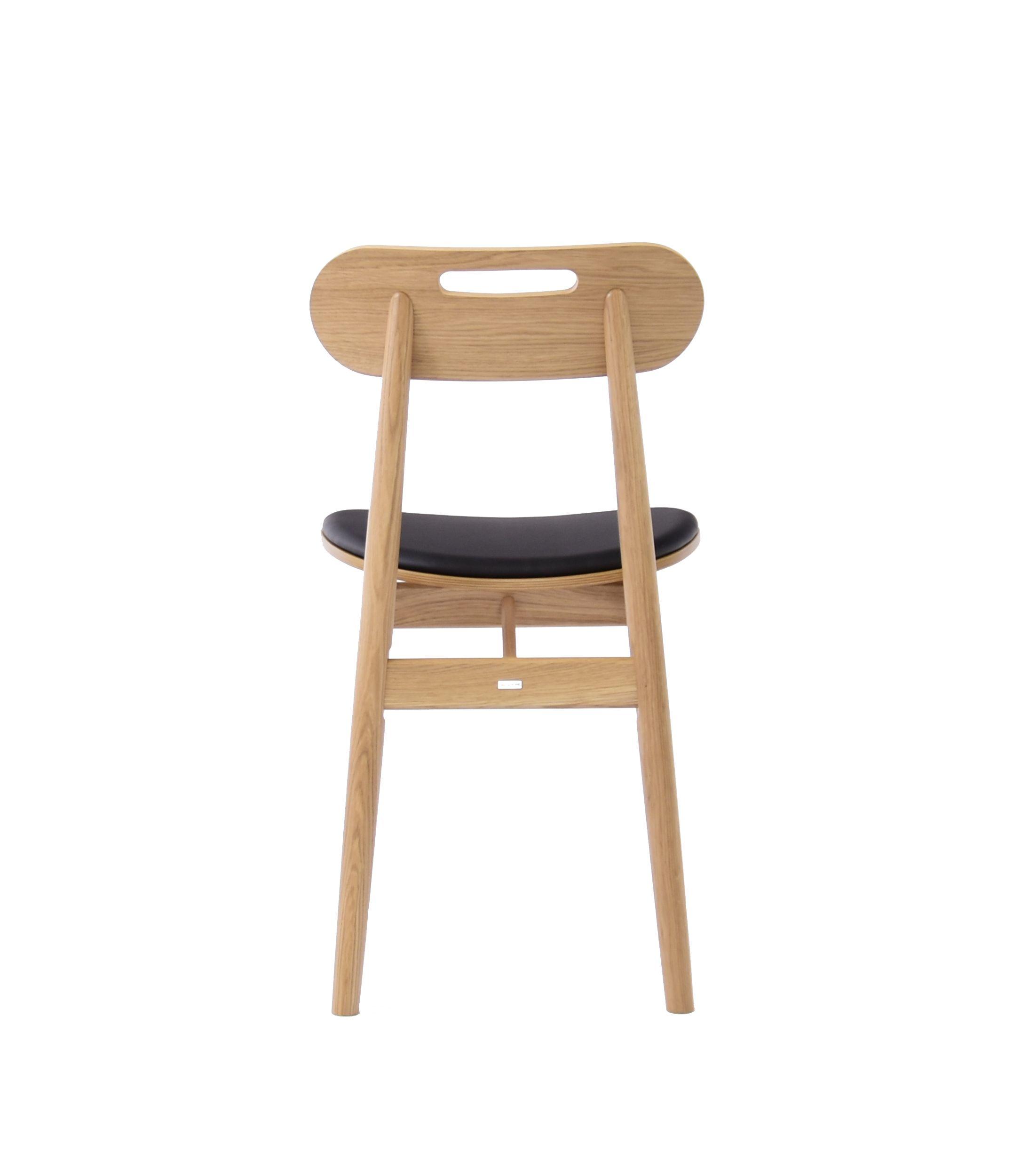 nowoczesne debowe krzesło tapicerowane