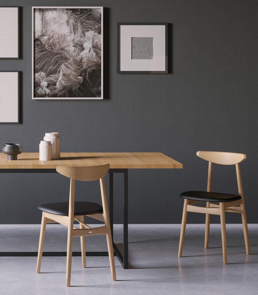 krzeslo drewniane tapicerowane polski design