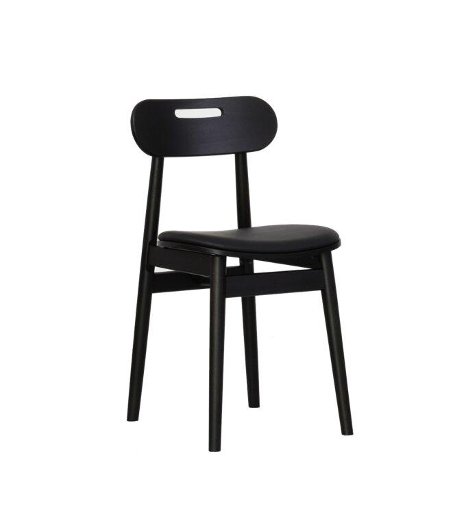 krzeslo skandynawskie czarne drewniane