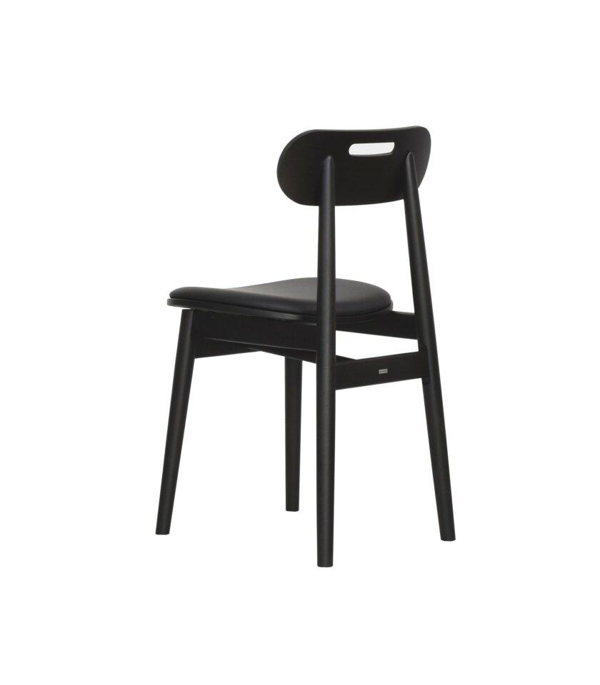 krzeslo czarne tapicerowane skandynawski styl