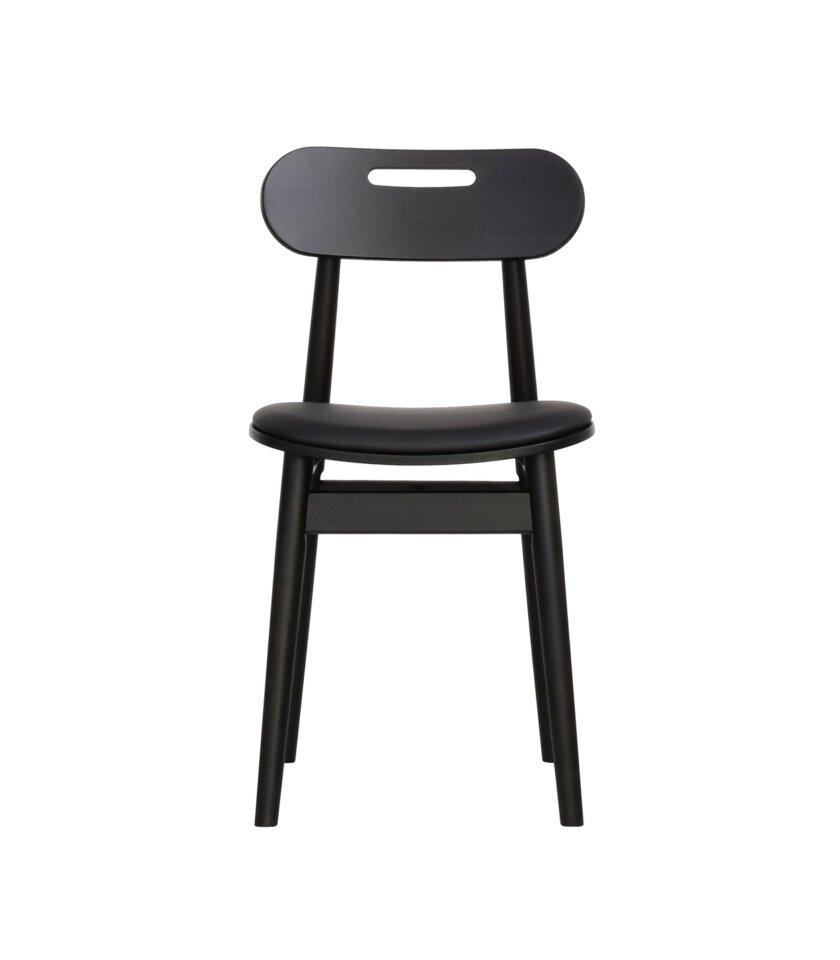 krzeslo czarne miekkie w stylu skandynawskim