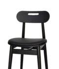 krzeslo tapicerowane czarne drewniane skandynawskie