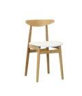 drewniane krzeslo skandynawskie biale tapicerowame polski design