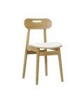 krzeslo w stylu skandynawskim debowe tapicerowane