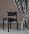 czarna krzeslo minimalistyczne polski design