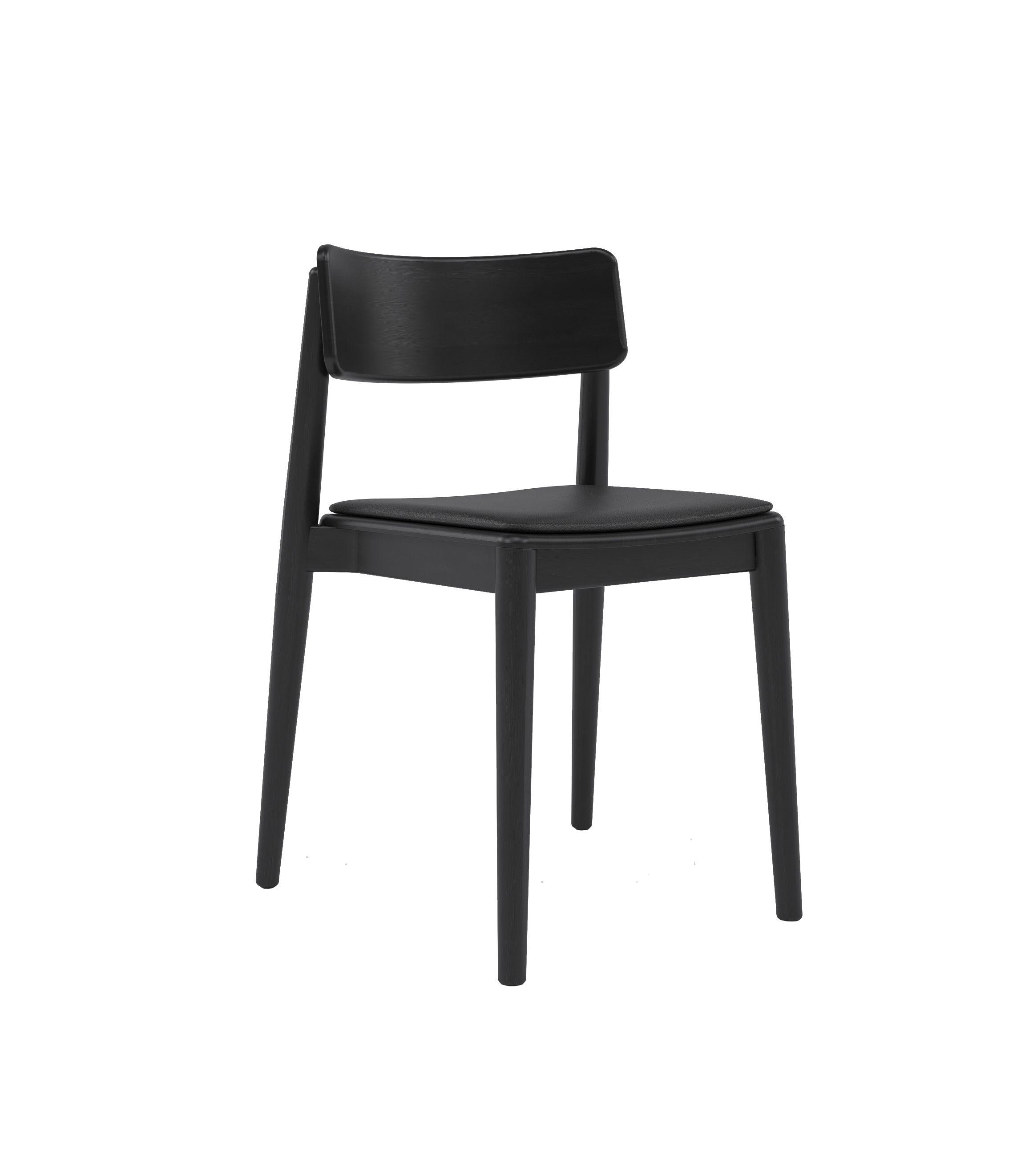 czarne nowoczesne krzesło dębowe