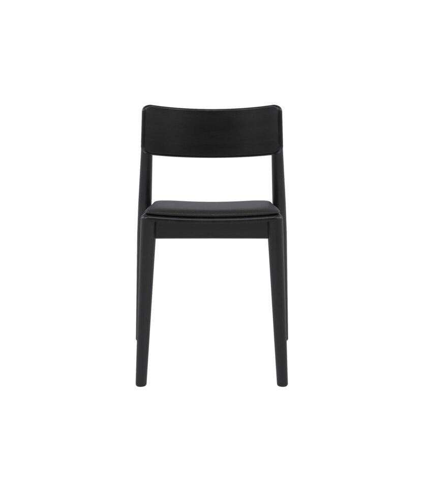 czarne nowoczesne debowe krzeslo polski design