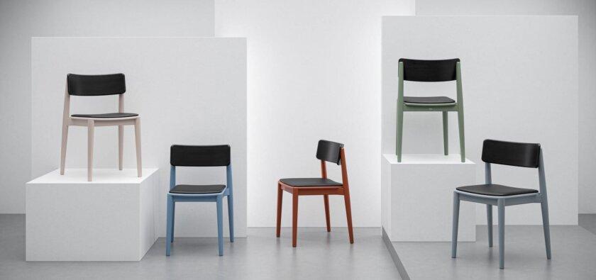 krzeslo drewniane kolorowe nowoczesne