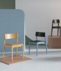 krzeslo drewniane nowoczesne tapicerowane