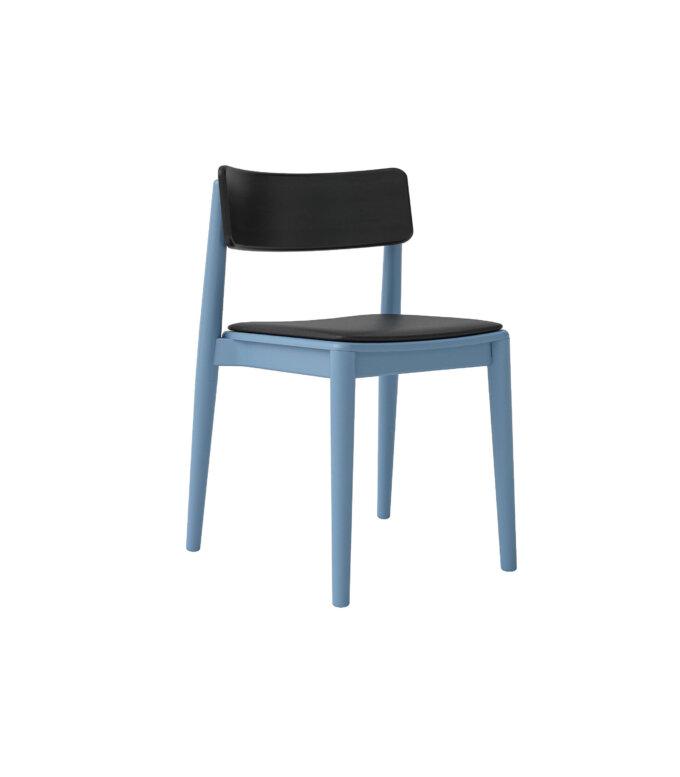 p krzeslo nowoczesne niebieskie czarne tapicerowane