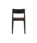 krzeslo czarne drewniane retro skora ekologiczna