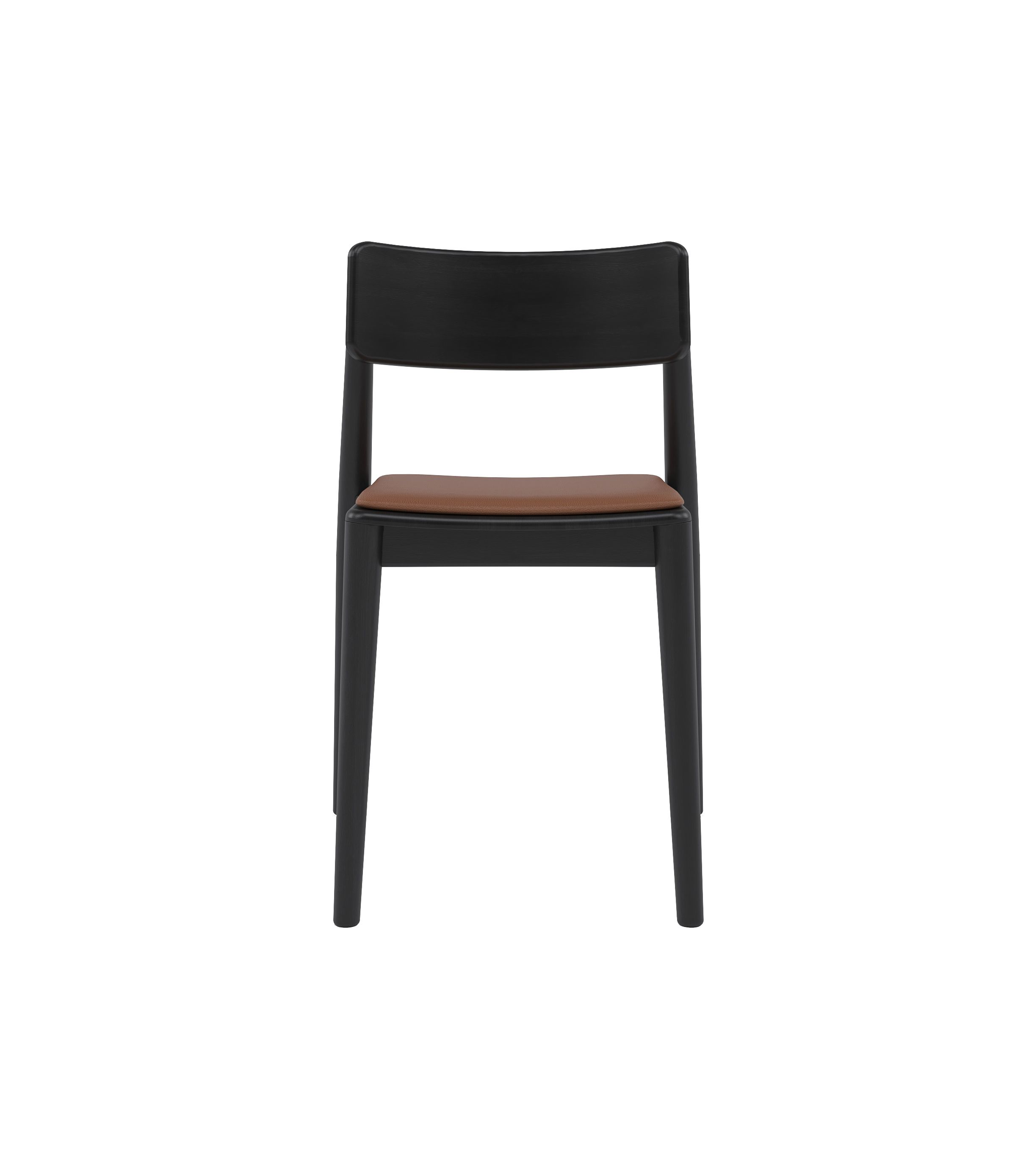 nowoczesne czarne dębowe krzesło polski design