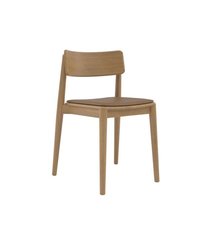 krzeslo debowe skandynawskie tapicerowane