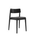 krzeslo w stylu retro czarno szare