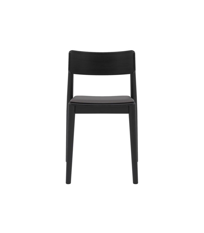 krzeslo drewniane czarno szare skora ekologiczna