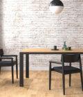 krzeslo drewniane czarne z podlokietnikami