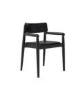krzeslo z podlokietnikami czarne drewno polski design