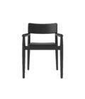 czarne krzeslo z podlokietnikami drewno skandynawskie
