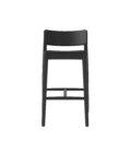 czarne krzeslo barowe drewniane polski design