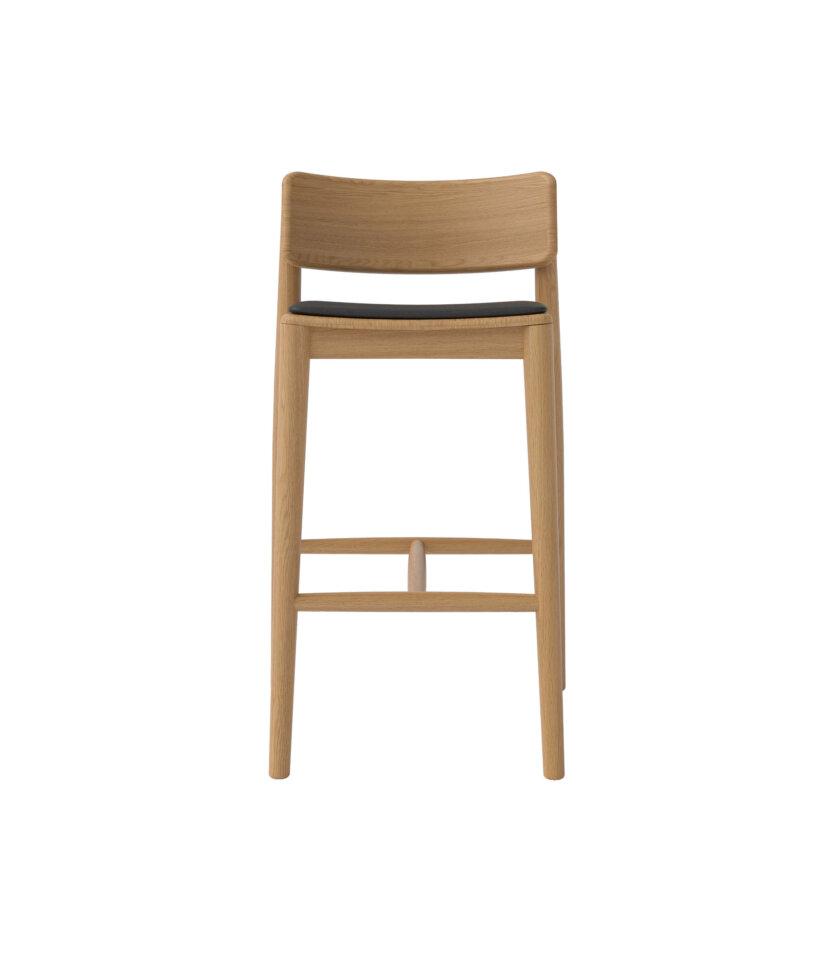 krzeslo barowe debowe w stylu skandynawskim