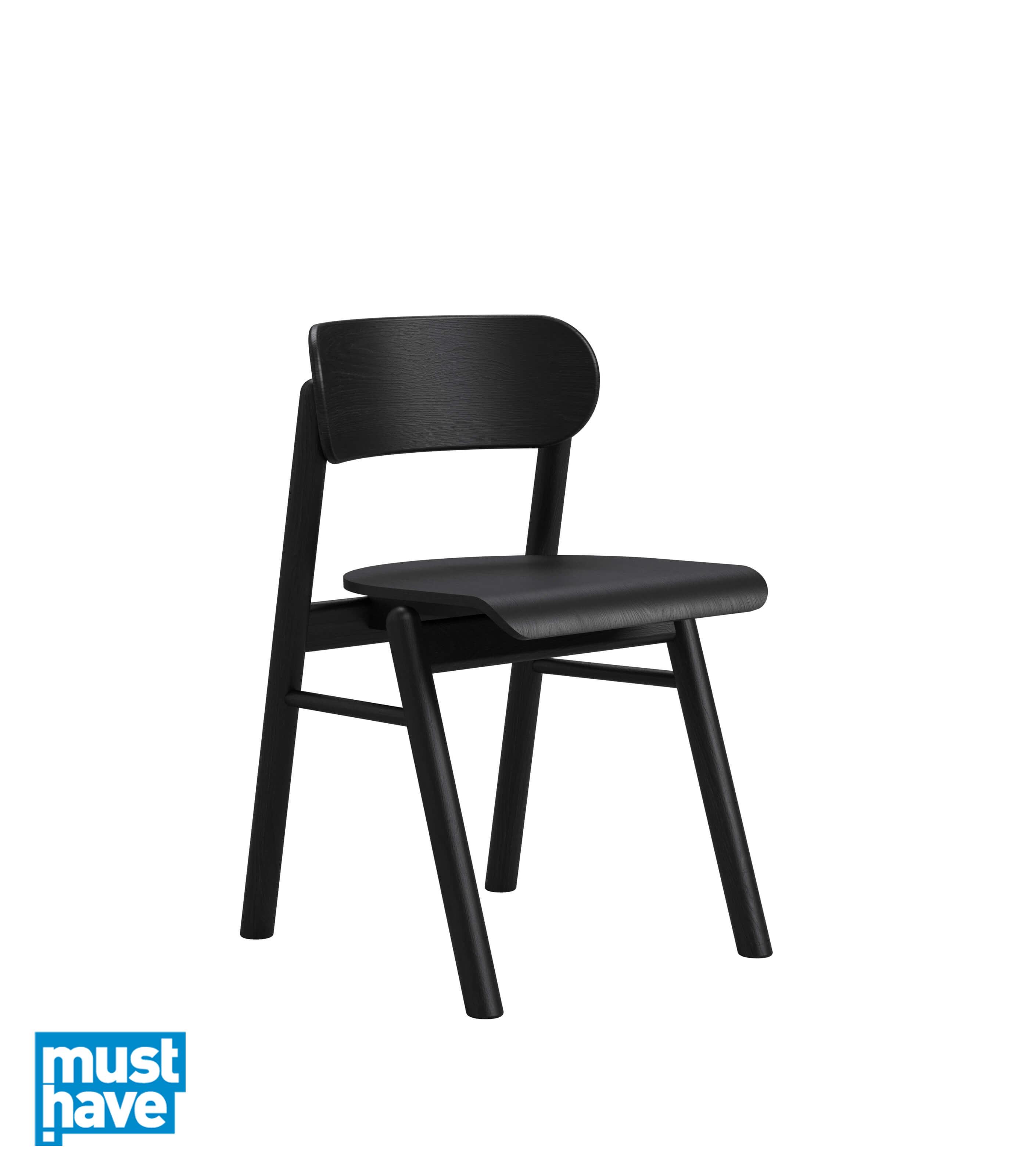 czarne krzeslo debowe nowoczesne