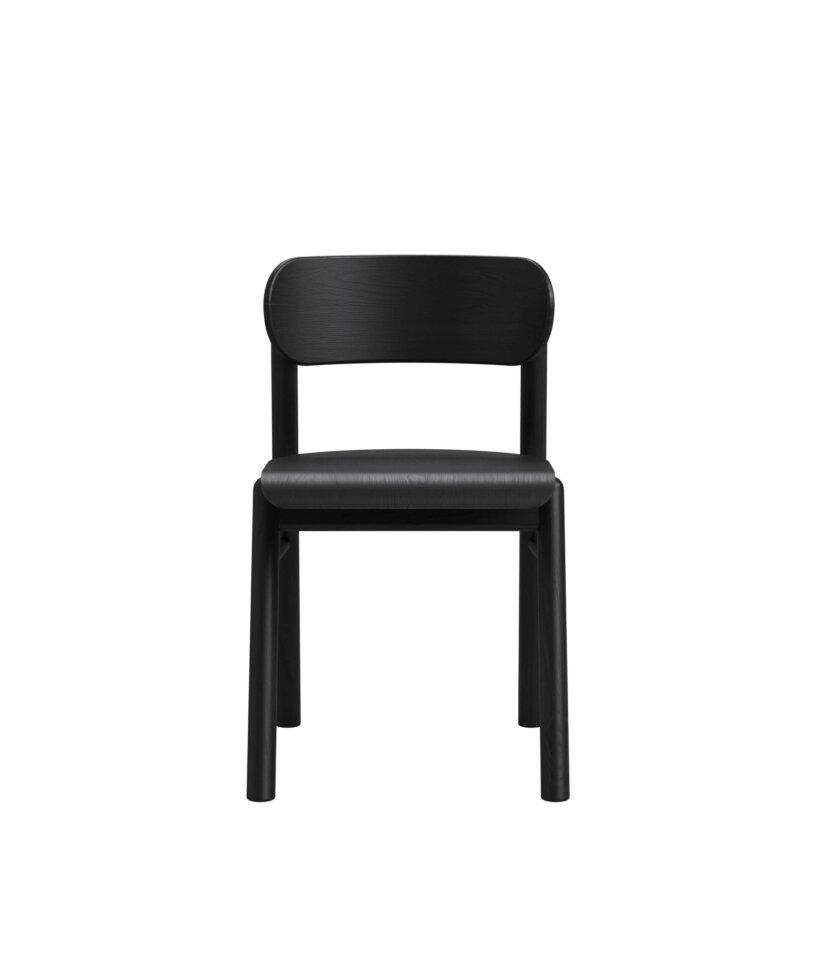 czarne krzeslo dab drewno polski design