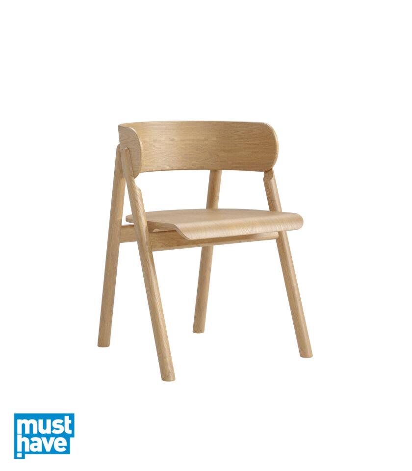 krzesło dębowe z podłokietnikami
