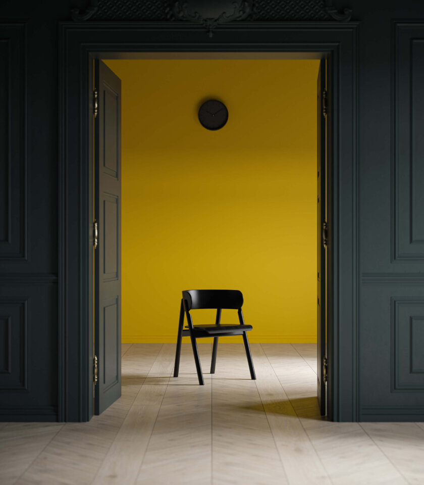 czarne krzesło dębowe