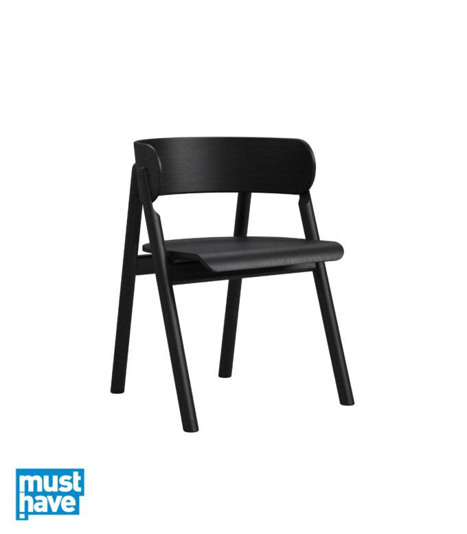 krzeslo z podlokietnikami dab czarny skandynawskie