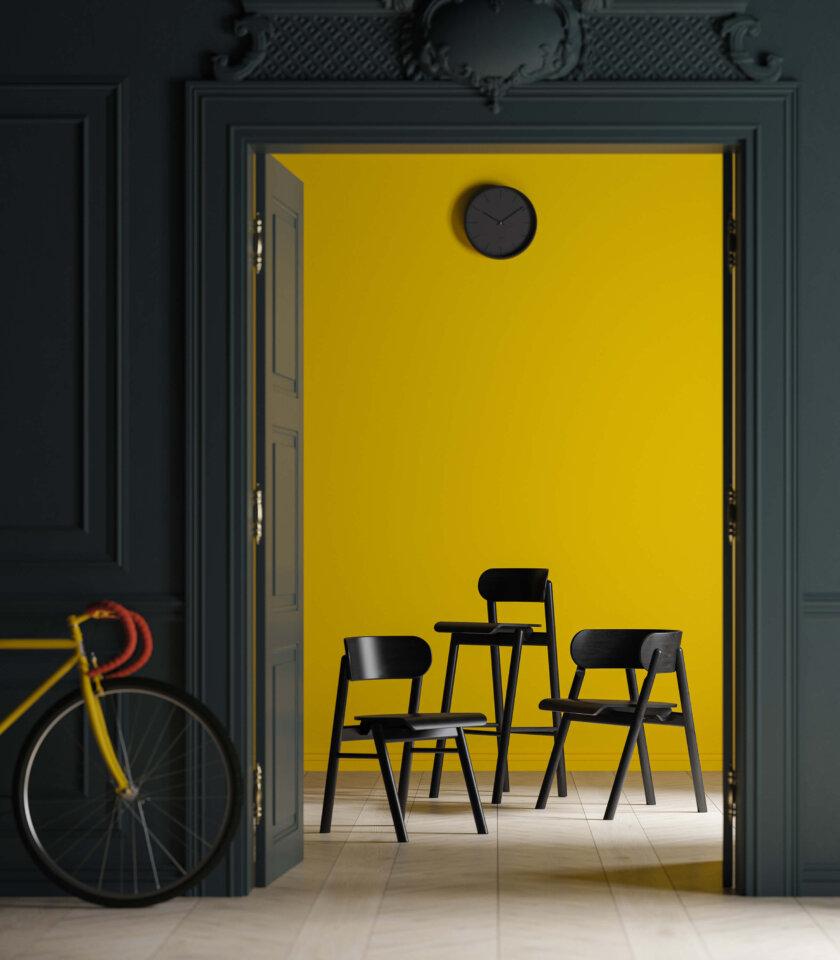 czarne krzesla debowe nowoczesne