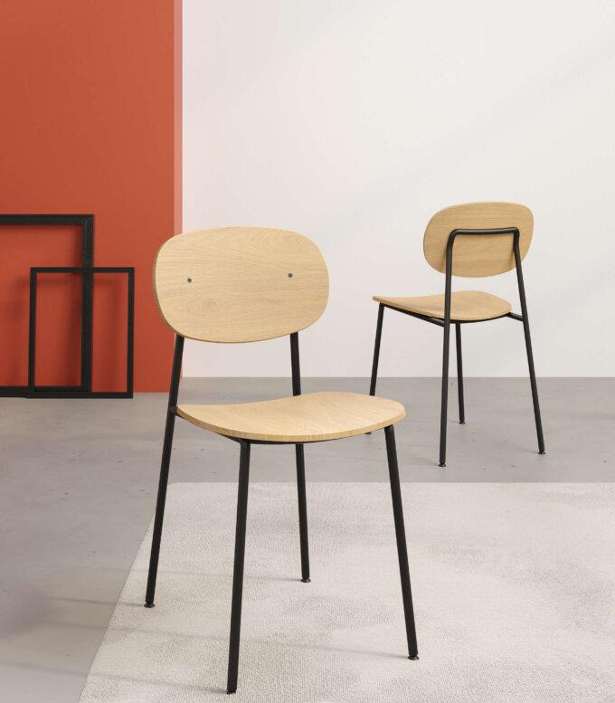 krzeslo w stylu skandynawskim minimalistycznym