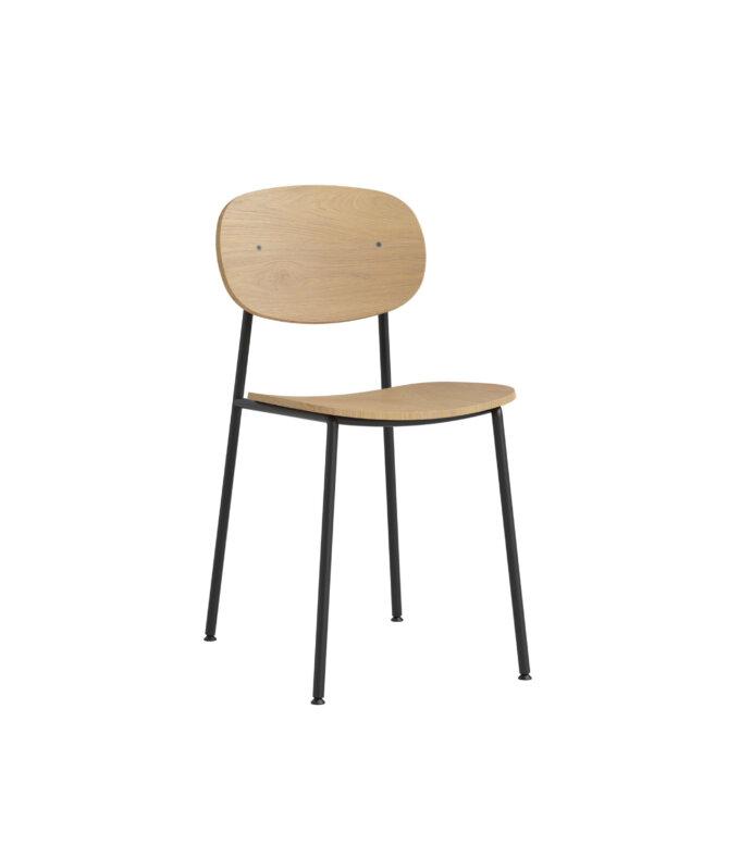 krzeslo minimalistyczne debowe w stylu skandynawskim