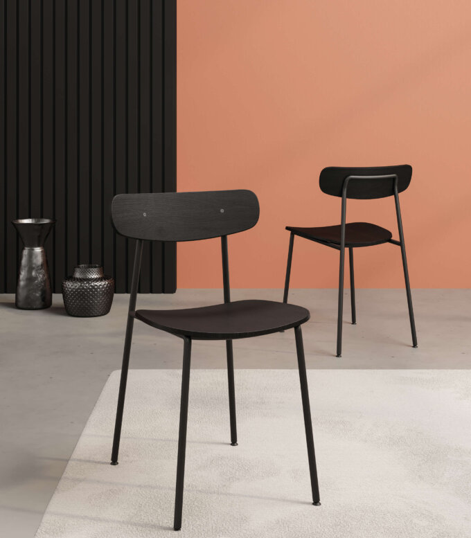 krzeslo minimalistyczne nowoczesne czarne