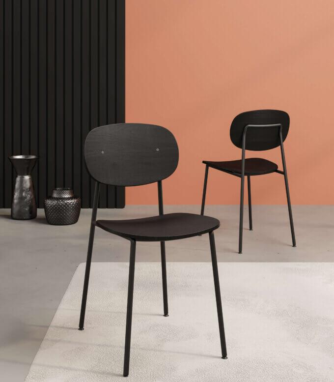 krzeslo metalowe nogi nowoczesne czarne