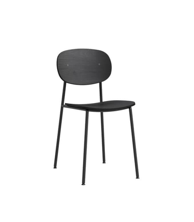 krzeslo czarne debowe minimalistyczne