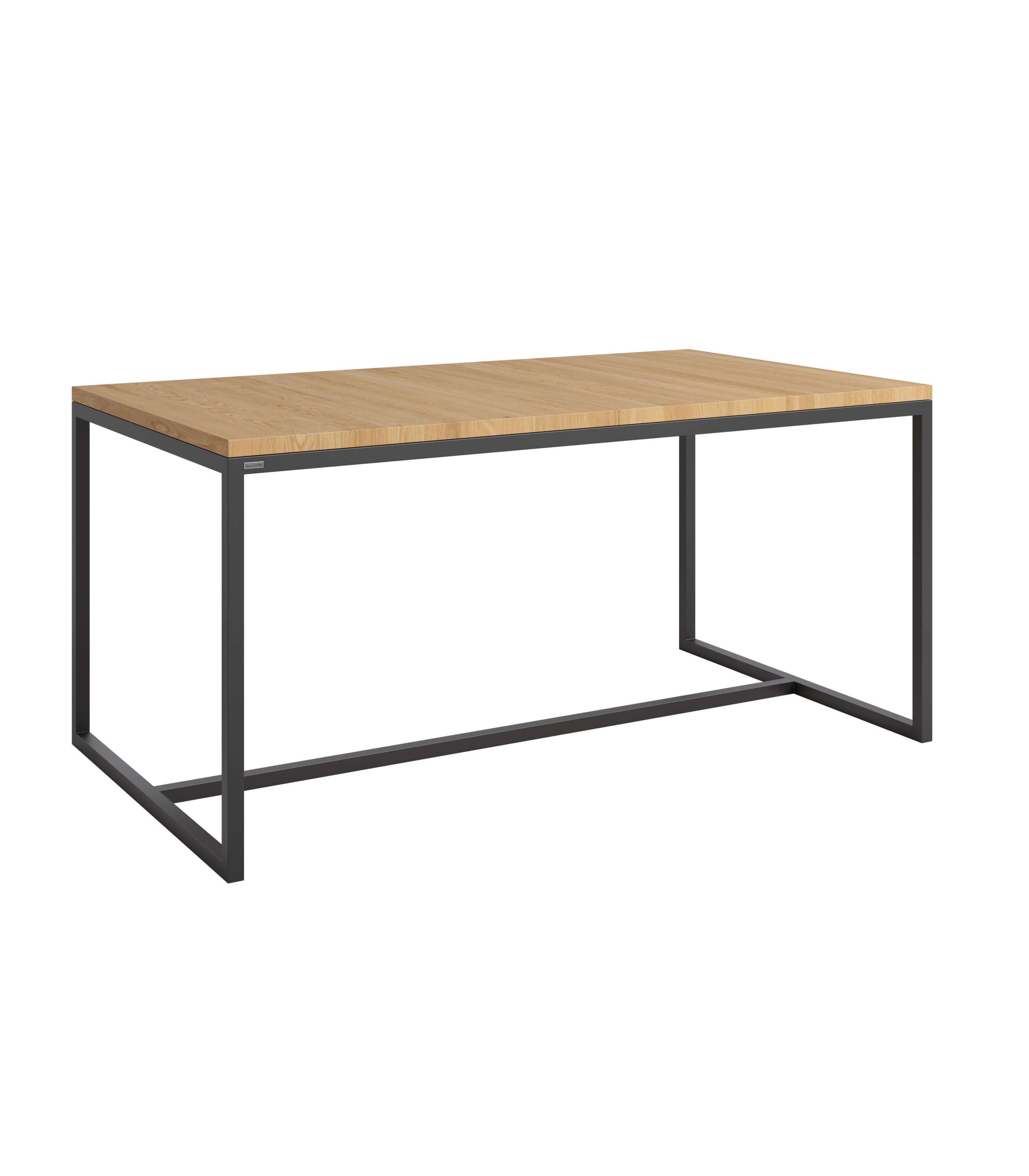 loftowy stół rozkładany dębowy