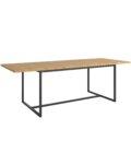 stol rozkladany debowy industrialny czarny
