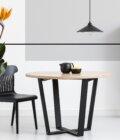 stol rozkladany okragly cm debowy