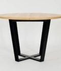 okragly industrialny stol rozkladany dab czarny