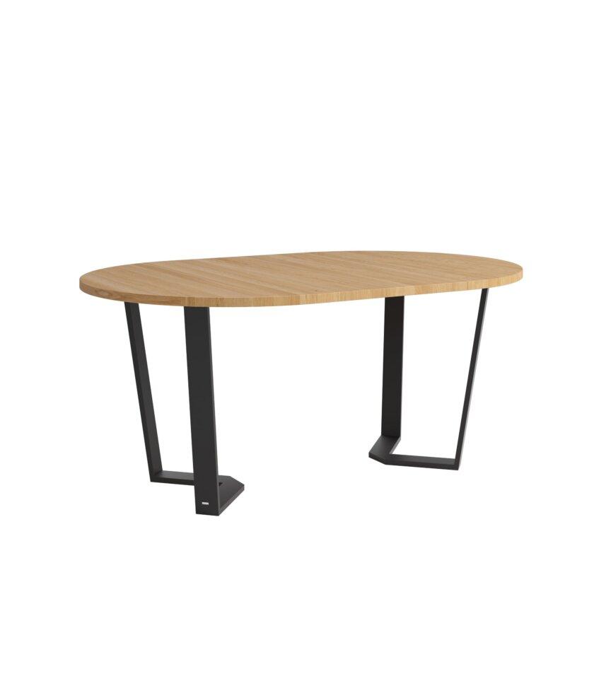 stol okragly rozkladany cm czarne nogi