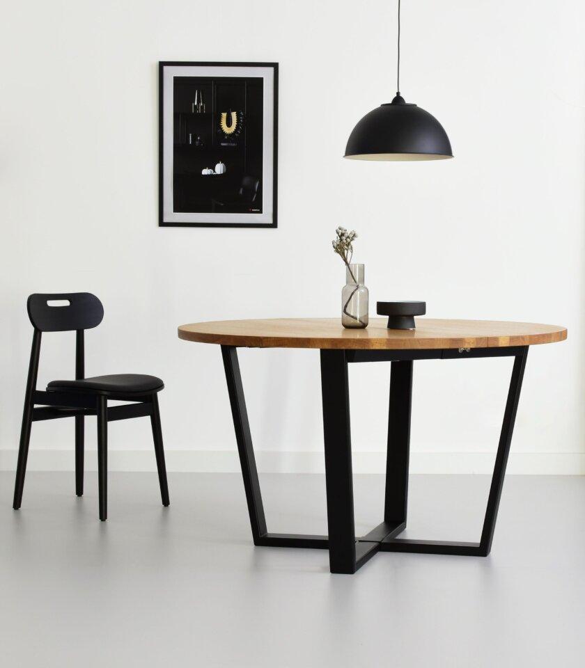 okragly rozkladany stol cm dab
