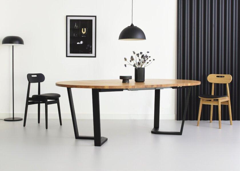 stol okragly rozkladany loftowy styl  cm