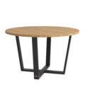 industrialny stol okragly 130cm dab