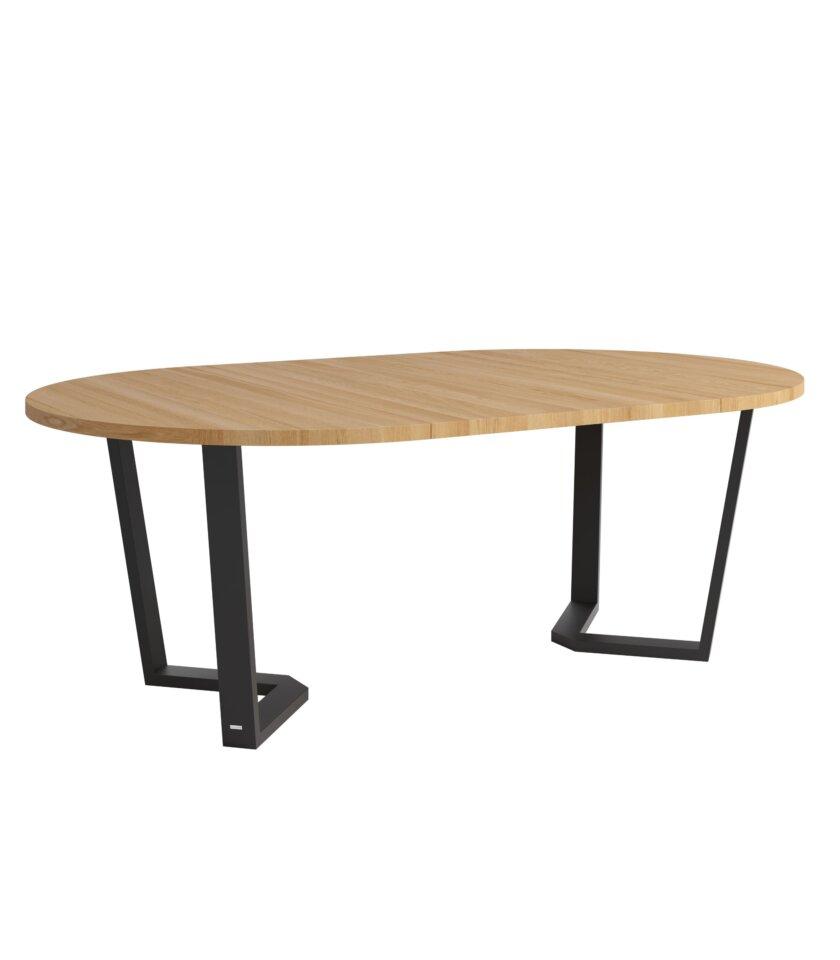 stol okragly rozkladany cm dab naturalny